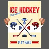 Ice Hockey Poster Royalty Free Stock Image