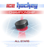 Ice Hockey Poster Stock Images