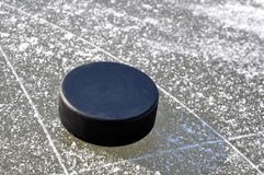 Ice hockey puck Royalty Free Stock Image