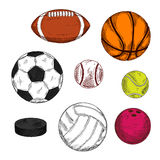 Ice hockey puck with balls for various sport games Royalty Free Stock Photo