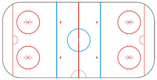 Ice hockey rink Royalty Free Stock Photography