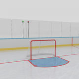 Ice Hockey Rink. 3d illustration Stock Photo