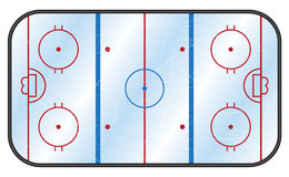 Ice Hockey Rink. An overhead view of an ice hockey rink Royalty Free Stock Photo
