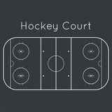 Ice hockey rink. On black top view. Board to parse the tactics of attack, defense vector illustration
