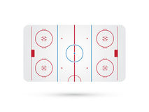 Ice hockey rink with blue red skate marks Stock Photography