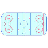 Ice hockey rink field playing infographics, flat, app Stock Images