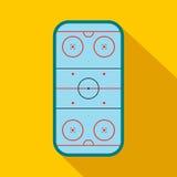Ice hockey rink flat icon Royalty Free Stock Photography