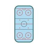 Ice hockey rink icon Stock Photos