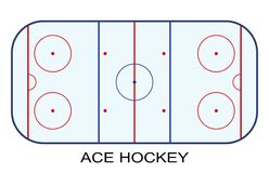 Ice Hockey Rink isolated on white background.  Royalty Free Stock Photography