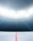 Ice Hockey Rink Stadium Stock Image