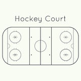Ice hockey rink. On a white top view. Board to parse the tactics of attack, defense royalty free illustration