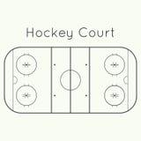 Ice hockey rink Stock Image