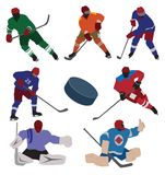 Ice hockey set vector illustration