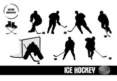 Ice Hockey silhouettes Royalty Free Stock Photography