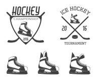 Ice hockey skates set Stock Images