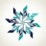 Ice hockey snowflake logo stock illustration
