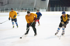 Ice hockey sport players. In action, business comptetition concpet Royalty Free Stock Images