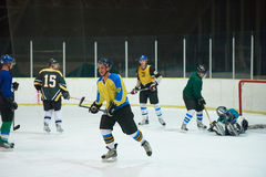 Ice hockey sport players. In action, business comptetition concpet Stock Photo