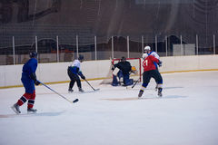 Ice hockey sport players Stock Photography