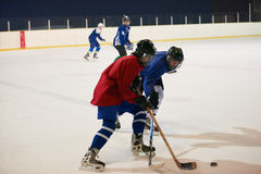 Ice hockey sport players. In action, business comptetition concpet Royalty Free Stock Photos