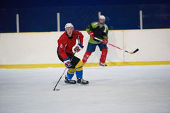 Ice hockey sport players. In action, business comptetition concpet Royalty Free Stock Photo