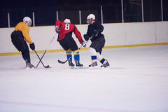 Ice hockey sport players. In action, business comptetition concpet Royalty Free Stock Image
