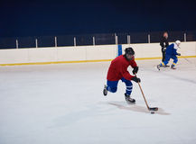 Ice hockey sport players. In action, business comptetition concpet Stock Photos