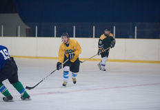 Ice hockey sport players Royalty Free Stock Images