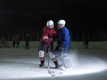 Ice hockey sport players Stock Image