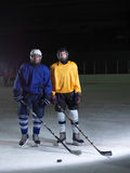 Ice hockey sport players Stock Photos