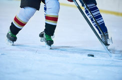 Ice hockey sport players Stock Photos