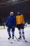 Ice hockey sport players. Comptetition concpet Stock Photography
