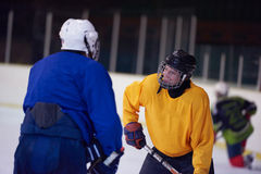 Ice hockey sport players. Comptetition concpet Stock Photos