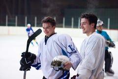 Ice hockey sport players Stock Image
