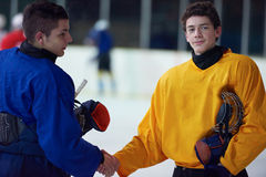 Ice hockey sport players. Comptetition concpet Stock Photo