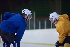 Ice hockey sport players. Comptetition concpet Royalty Free Stock Image