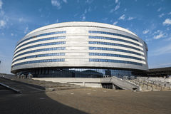 Ice Hockey Stadium. building Minsk Arena - a modern sports and cultural complex Royalty Free Stock Photography