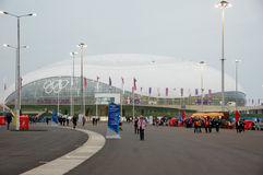 Ice hockey stadium at XXII Winter Olympic Games Royalty Free Stock Photos