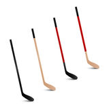 Ice hockey sticks. Vector set. Royalty Free Stock Photography