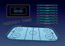 Ice hockey theme Stock Photography