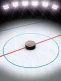 Ice hockey under the lights. Room for text or copy space Stock Images