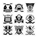 Ice-Hockey Vector Icons 20 Royalty Free Stock Image