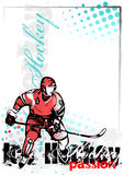 Ice hockey vector poster background Royalty Free Stock Photo