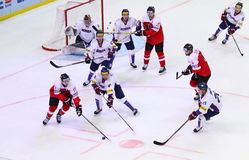 Ice Hockey 2017 World Championship Div 1 in Kiev, Ukraine Stock Photos