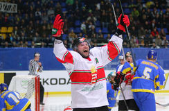 Ice Hockey 2017 World Championship Div 1 in Kiev, Ukraine Royalty Free Stock Image
