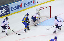 Ice Hockey 2017 World Championship Div 1A in Kiev, Ukraine Royalty Free Stock Photography