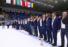 Ice Hockey 2017 World Championship Div 1A in Kiev, Ukraine Stock Photography