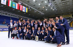 Ice Hockey 2017 World Championship Div 1A in Kiev, Ukraine Stock Photo