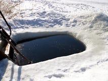 Ice hole Stock Images