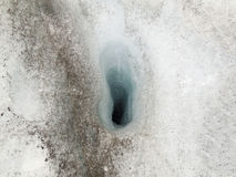 Ice hole Stock Images